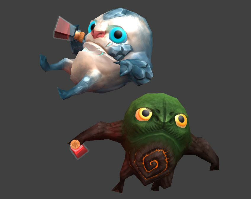 Two of the playable characters in the game