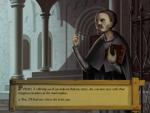 The priests first quest during daytime.