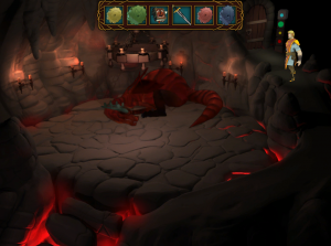 In the lair the dragon slumbers... try not to wake her up!