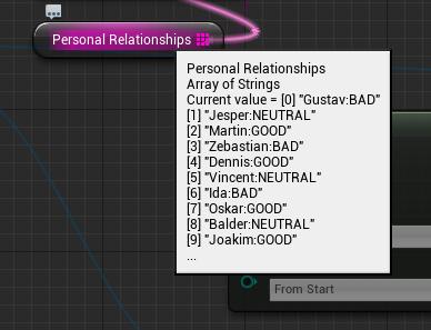 The randomized relationship statuses.